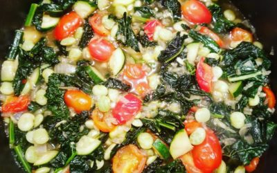 Italian Ribollita Soup with Crusty Garlic Bread