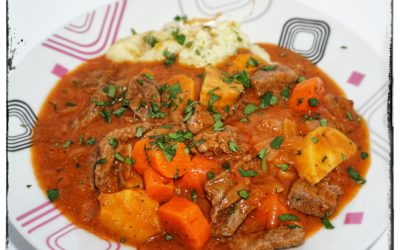 Beef Irish Stew Cheese Mashed Potatoes