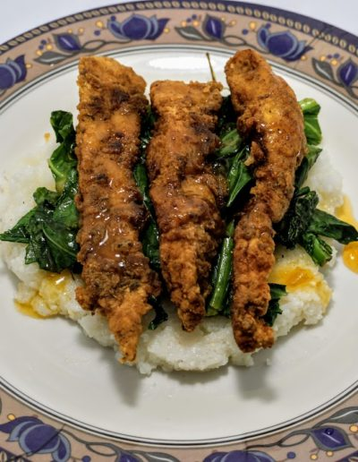 Chicken Strips and grits 2