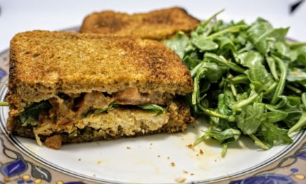 Grilled Chicken Sandwich with Caper Mayo & Arugula Salad