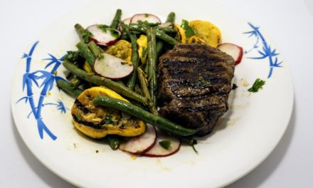 Grilled Steak & Vegetables with Cilantro-Jalapeño Dressing