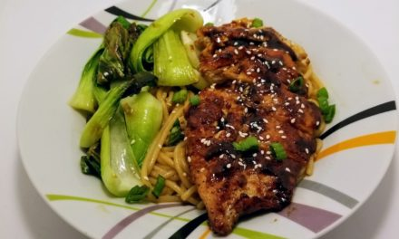 Hoisin Chicken Cutlets with Buttery Soy Noodles & Bok Choy