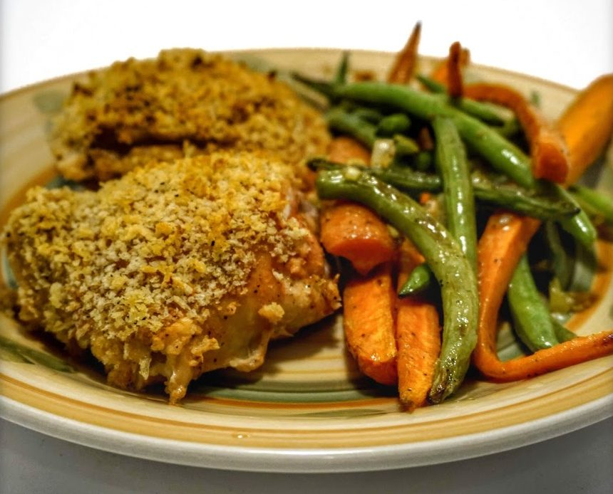 Simple Chicken Recipes One Pan Panko-Mustard Chicken 1