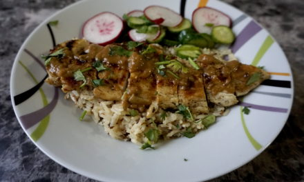 Chicken Satay Recipe with Coconut Rice Pickled Radish