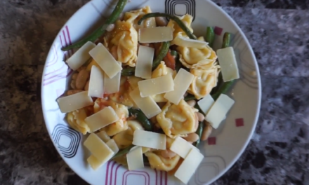 Tortellini & Bean Salad Recipe with Roasted Tomato Vinaigrette