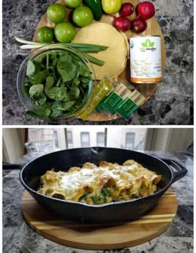 Salsa Verde Veggie Enchiladas 1