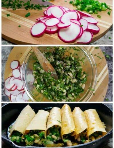 Salsa Verde Veggie Enchiladas 2