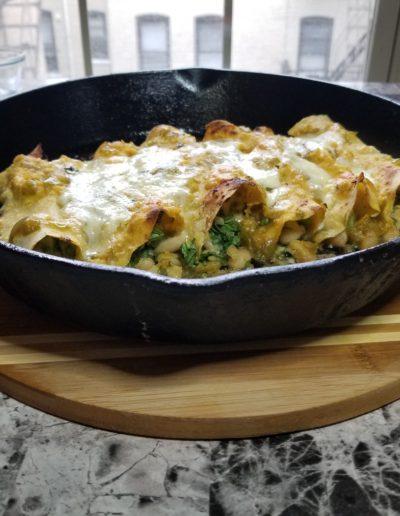 Salsa Verde Veggie Enchiladas recipe 7