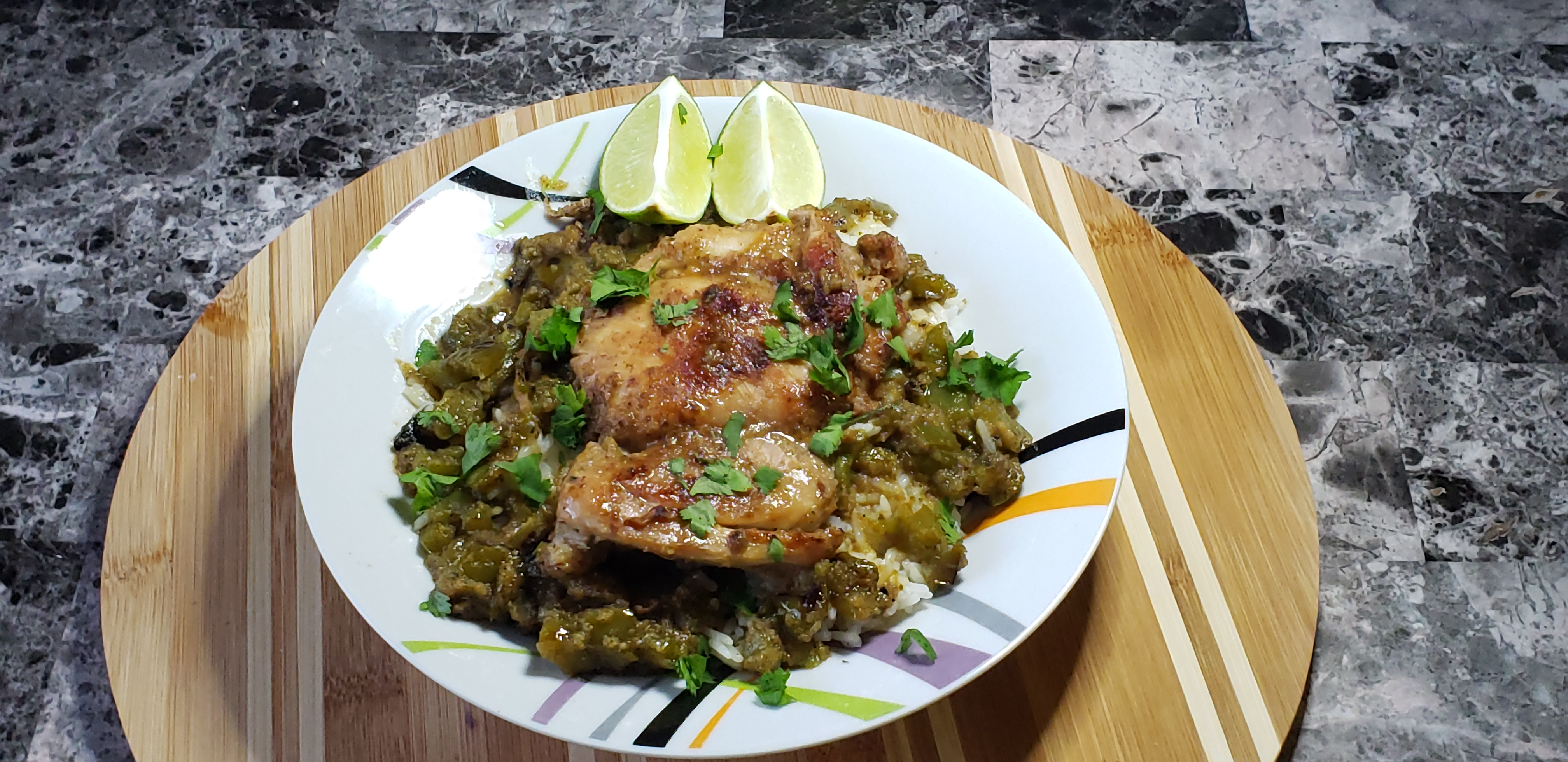 Cilantro Chicken and Rice with a nice Pinot Noir