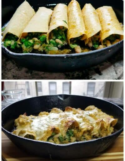 Salsa Verde Veggie Enchiladas 3