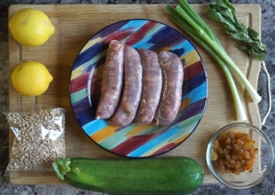 Sweet Italian Sausages and Zucchini 1