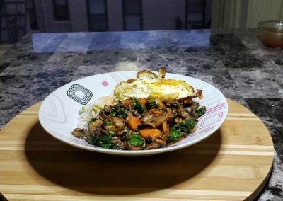 Veggie & Sushi Rice Bibimbap 6