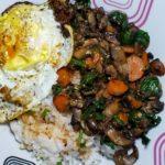 Veggie & Sushi Rice Bibimbap 7