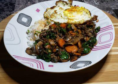 Veggie & Sushi Rice Bibimbap 10