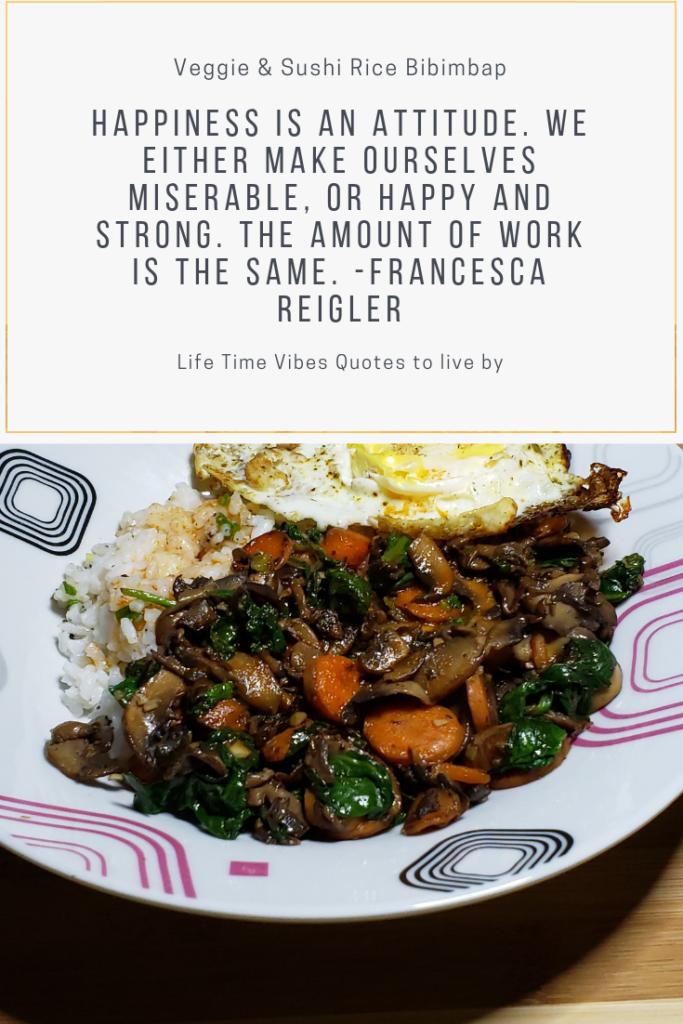 Veggie & Sushi Rice Bibimbap quote
