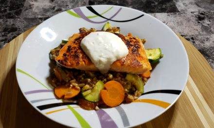 Seared Salmon over Farro