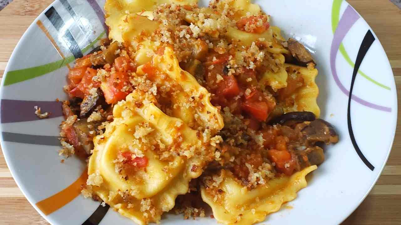 Four-Cheese Ravioli alla Norma