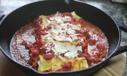 Three-Cheese Cannelloni with Chopped Italian Salad