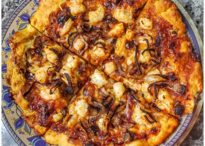 BBQ Shrimp Pizza 6