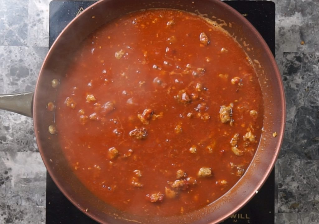 Sausage Bolognese 8