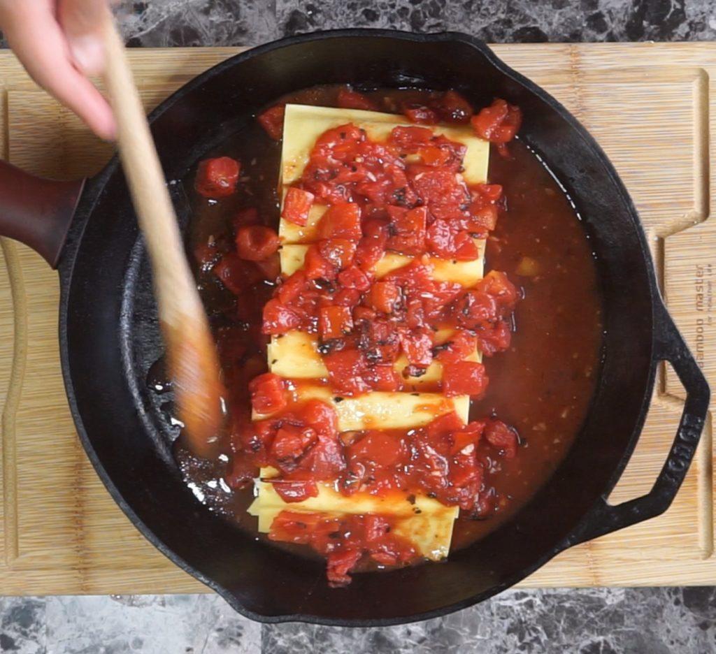 Three-Cheese Cannelloni vegan food Italian