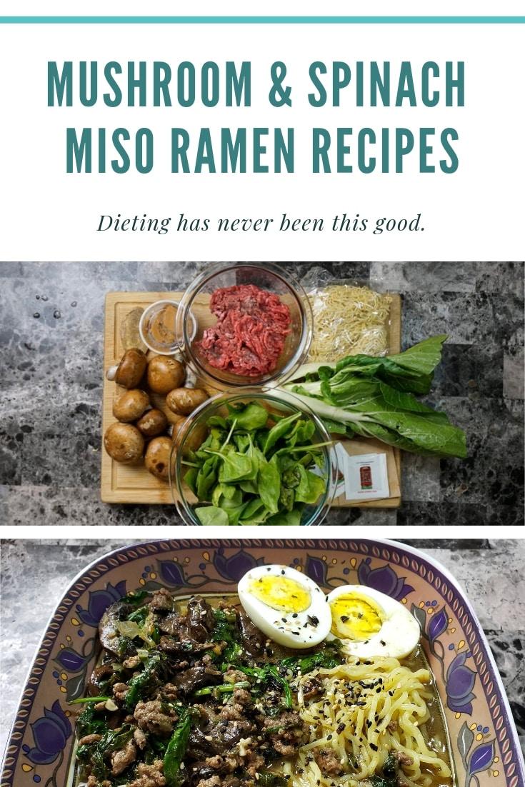 Mushroom & Spinach Miso Ramen Recipes