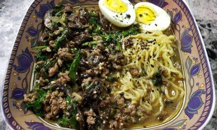 Mushroom & Spinach Miso Ramen