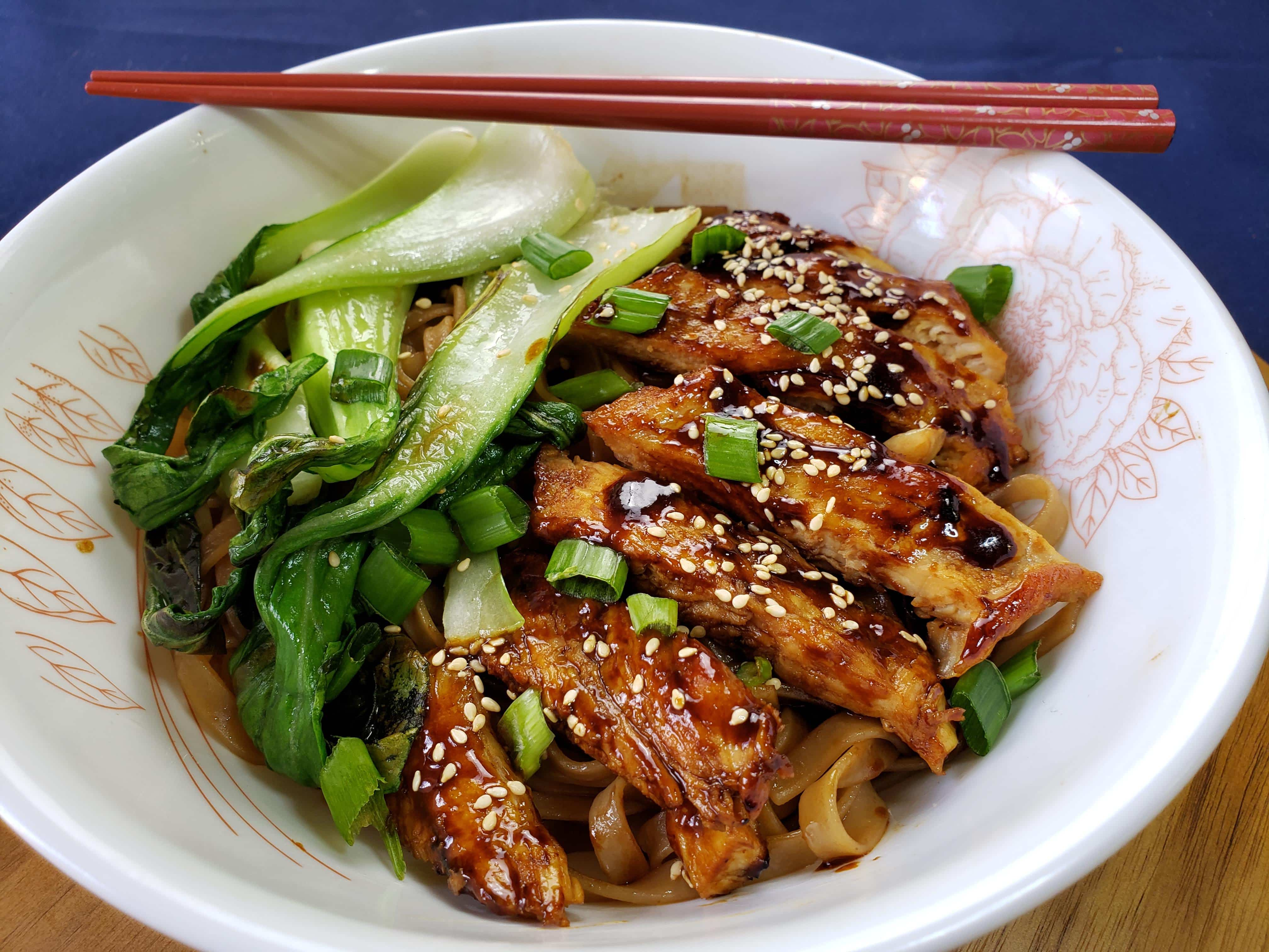 Hoisin Chicken Recipe with Buttery Soy Noodles