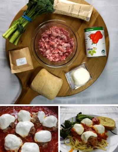 Skillet Pork Meatball Parmesan