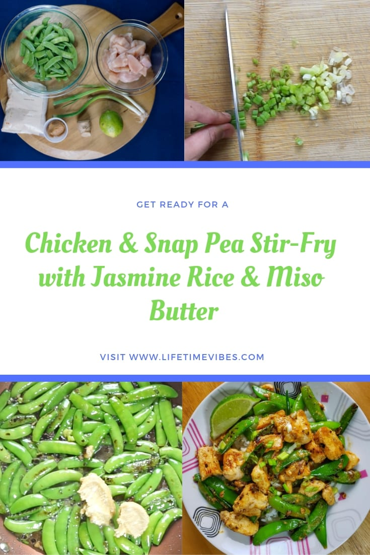 Chicken & Snap Pea Stir-Fry with Jasmine Rice & Miso Butter