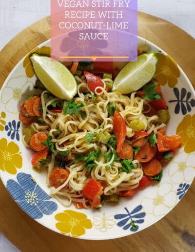 rice noodles with vegetables recipe