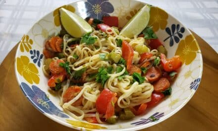 Simple Vegan Stir Fry Recipe with Coconut-Lime Sauce