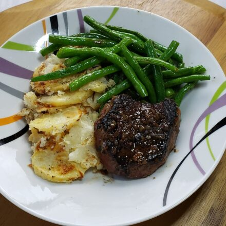 pan seared sirloin steak