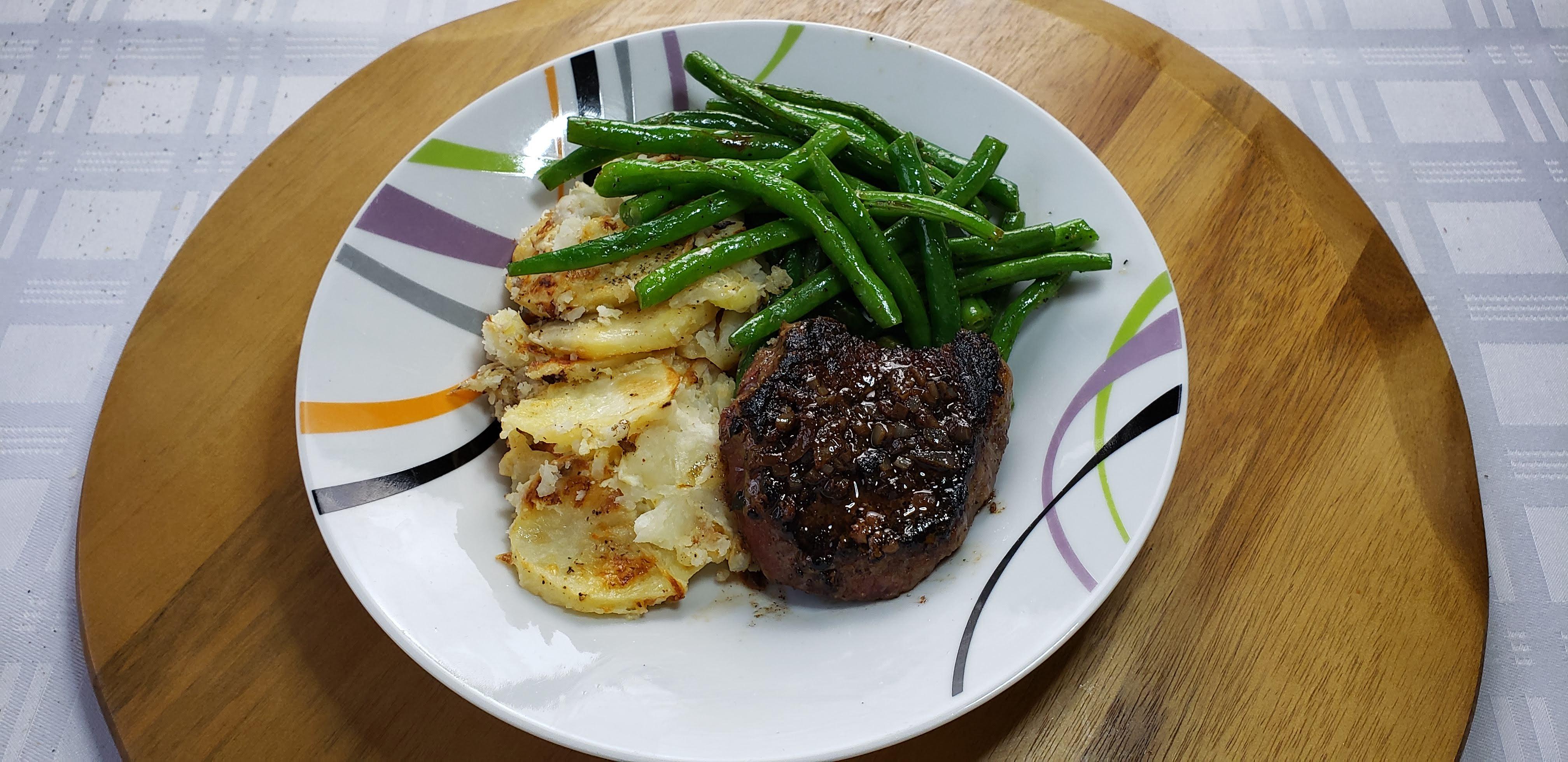 pan seared sirloin steak