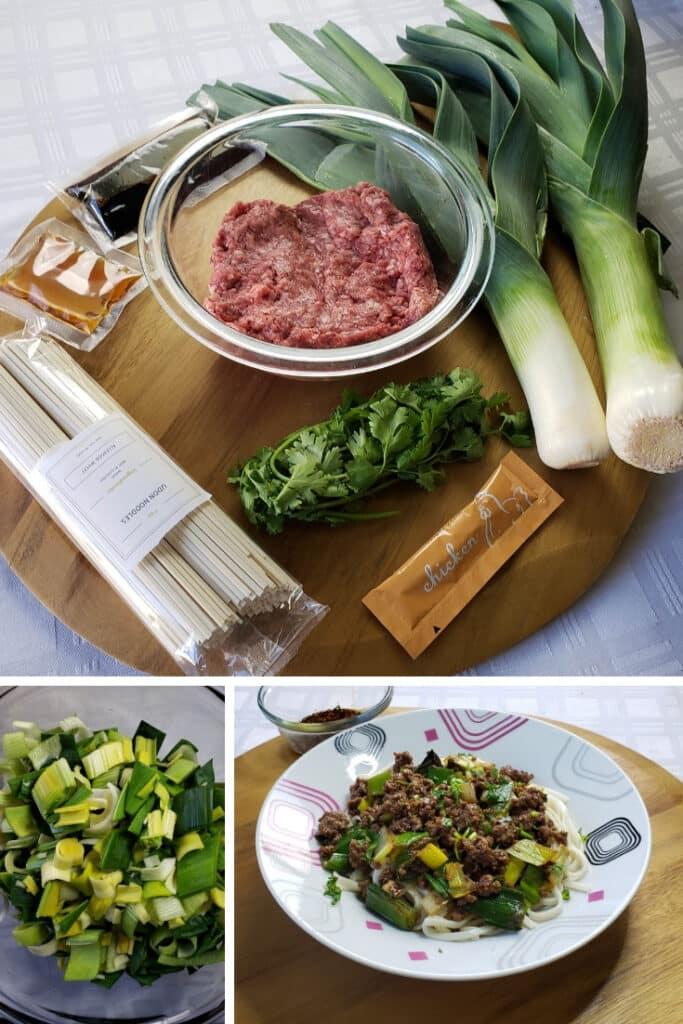 Spicy Beef & Leeks Udon Noodles