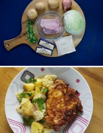 Pork Schnitzel with Warm Cabbage 1
