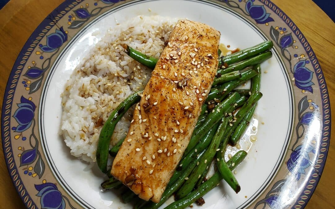 Teriyaki Glazed Salmon and Tips for cooking fish