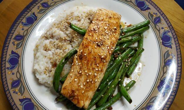 Teriyaki Glazed Salmon and Tips for cooking fish