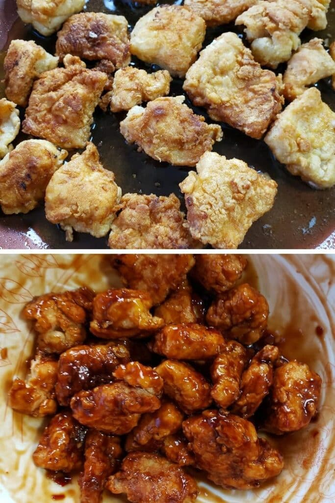 Sesame Chicken and Tips for frying chicken 2