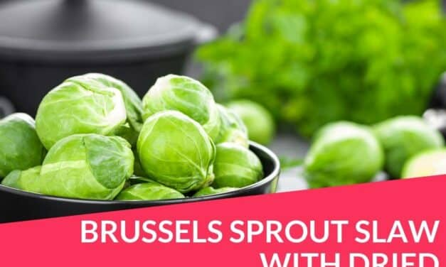 Brussels sprout slaw with dried cranberries