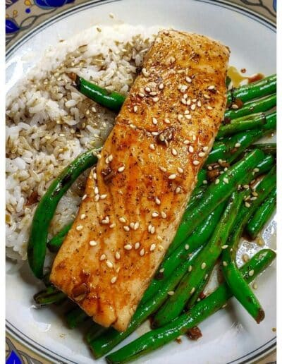 Teriyaki-Glazed Salmon and Tips for cooking fish