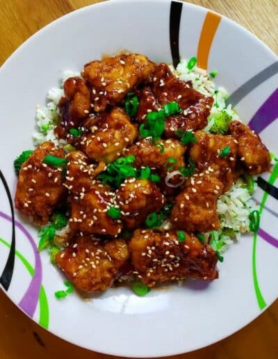 Sesame Chicken and Tips for frying chicken