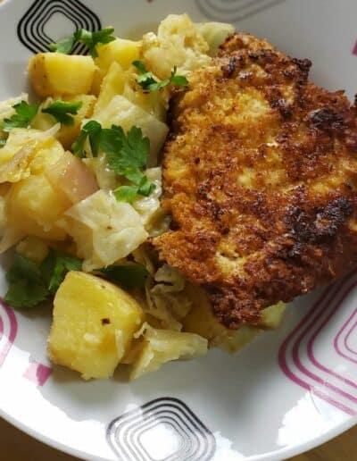 Pork Schnitzel with Warm Cabbage 6
