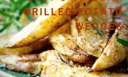 Salt & Vinegar Grilled Potato Wedges