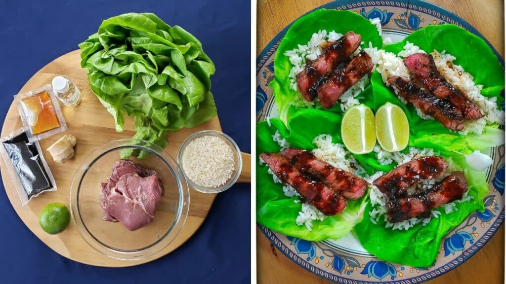 Korean Steak Lettuce Cups