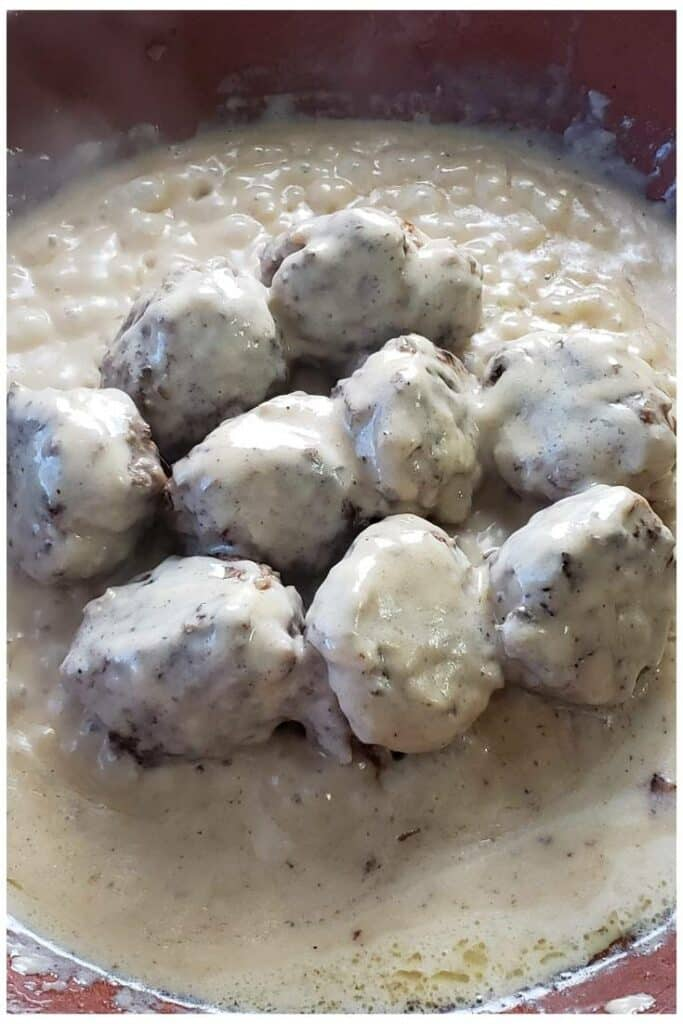 Creamy Swedish Meatballs 4