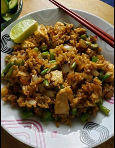 Chicken Fried Rice with Basil 235