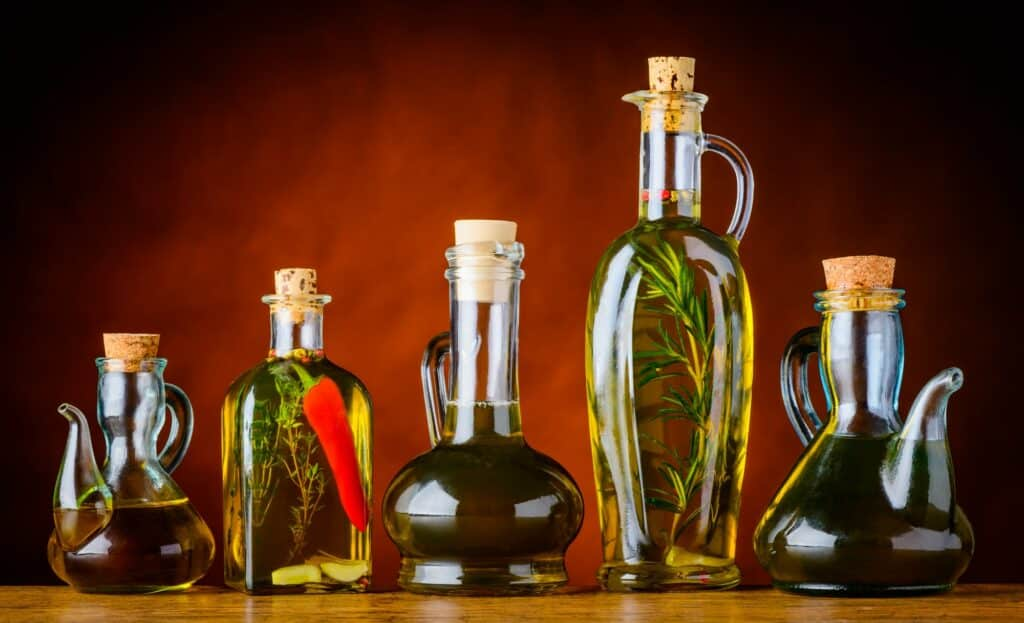 Bottles of Cooking Oil