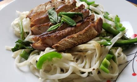 Vietnamese Pork Chop with Rice Noodle Recipe