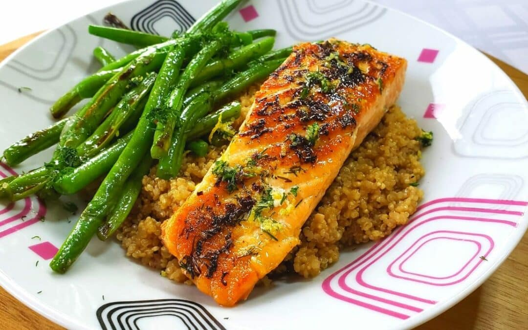 Tasty Lemon & Dill Salmon with Quinoa
